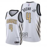 Camiseta Atlanta Hawks Charlie Brown JR. NO 4 Ciudad Blanco