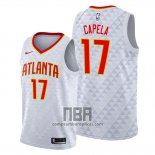 Camiseta Atlanta Hawks Clint Capela NO 17 Association 2019-20 Blanco