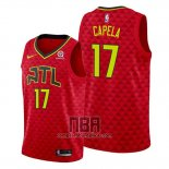 Camiseta Atlanta Hawks Clint Capela NO 17 Statement 2019-20 Rojo