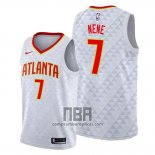 Camiseta Atlanta Hawks Nene NO 7 Association 2019-20 Blanco