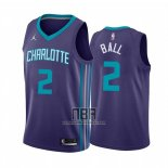 Camiseta Charlotte Hornets LaMelo Ball NO 2 Statement 2020-21 Violeta