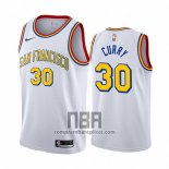 Camiseta Golden State Warriors Stephen Curry NO 30 Classic 2019-20 Blanco