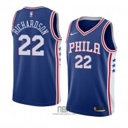 Camiseta Philadelphia 76ers Malachi Richardson NO 22 Icon 2018 Azul