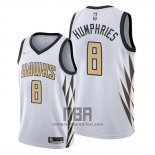 Camiseta Atlanta Hawks Isaac Humphries NO 8 Ciudad Blanco