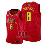 Camiseta Atlanta Hawks Isaac Humphries NO 8 Rojo Statement