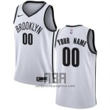 Camiseta Brooklyn Nets Personalizada 2017-18 Blanco