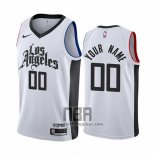 Camiseta Los Angeles Clippers Personalizad Ciudad 2019-20 Blanco