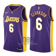 Camiseta Los Angeles Lakers Jordan Clarkson NO 6 Statement 2017-18 Violeta