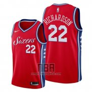 Camiseta Philadelphia 76ers Malachi Richardson NO 22 Statement Rojo