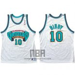 Camiseta Vancouver Grizzlies Mike Bibby NO 10 Historic Retro Blanco