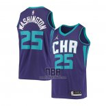 Camiseta Charlotte Hornets P.J. Washington NO 25 Statement 2020-21 Violeta
