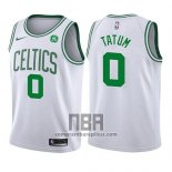 Camiseta Nino Boston Celtics Jayson Tatum NO 0 Association 2017-18 Blanco