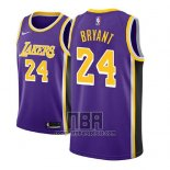 Camiseta Nino Los Angeles Lakers Kobe Bryant NO 24 Statement 2018 Violeta