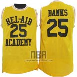 Camiseta Pelicula Bel-Air Academy Banks NO 25 Amarillo