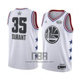 Camiseta All Star 2019 Golden State Warriors Kevin Durant NO 35 Blanco