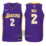 Camiseta Nino Los Angeles Lakers Lonzo Ball NO 2 Statement 2017-18 Violeta