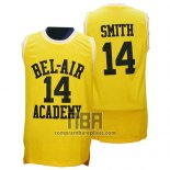 Camiseta Pelicula Bel-Air Academy Smith NO 14 Amarillo