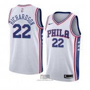 Camiseta Philadelphia 76ers Malachi Richardson NO 22 Association 2018 Blanco