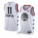 Camiseta All Star 2019 Golden State Warriors Klay Thompson NO 11 Blanco