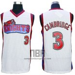 Camiseta Pelicula Knights Calvin Cambridge NO 3 Blanco