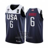 Camiseta USA Joe Harris NO 6 2019 FIBA Basketball World Cup Azul