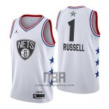 Camiseta All Star 2019 Brooklyn Nets Dangelo Russell NO 1 Blanco