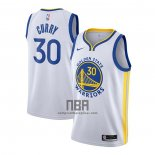 Camiseta Golden State Warriors Stephen Curry NO 30 Association 2020-21 Blanco