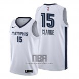 Camiseta Memphis Grizzlies Brandon Clarke NO 15 Association Blanco