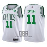 Camiseta Nino Boston Celtics Kyrie Irving NO 11 2017-18 Blanco