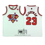 Camiseta Pelicula Flightman Superman NO 23 Blanco