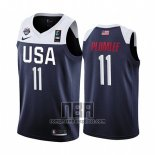Camiseta USA Mason Plumlee NO 11 2019 FIBA Basketball World Cup Azul
