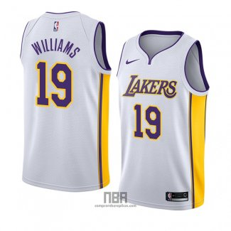 Camiseta Los Angeles Lakers Johnathan Williams NO 19 Association 2018 Blanco