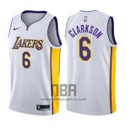 Camiseta Los Angeles Lakers Jordan Clarkson NO 6 Association 2017-18 Blanco