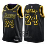 Camiseta Nino Los Angeles Lakers Kobe Bryant NO 24 Ciudad 2017-18 Negro