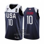 Camiseta USA Jayson Tatum NO 10 2019 FIBA Basketball World Cup Azul