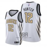 Camiseta Atlanta Hawks De'andre Hunter NO 12 Ciudad Blanco
