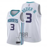 Camiseta Charlotte Hornets Terry Rozier III NO 3 Association Blanco