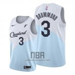 Camiseta Cleveland Cavaliers Andre Drummond NO 3 Earned 2019-20 Azul