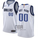 Camiseta Dallas Mavericks Personalizada 2017-18 Blanco