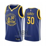 Camiseta Golden State Warriors Stephen Curry NO 30 Icon 2019-20 Azul