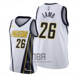 Camiseta Indiana Pacers Jeremy Lamb NO 26 Earned Blanco