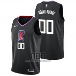 Camiseta Los Angeles Clippers Personalizad Statement 2019 Negroa