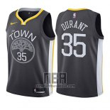 Camiseta Nino Golden State Warriors Kevin Durant NO 35 Statement 2017-18 Gris