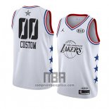Camiseta All Star 2019 Los Angeles Lakers Personalizada Blanco