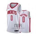 Camiseta Houston Rockets Russell Westbrook NO 0 Association 2019-20 Blanco