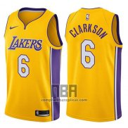 Camiseta Los Angeles Lakers Jordan Clarkson NO 6 Swingman Icon 2017-18 Oro