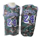 Camiseta Los Angeles Lakers Kobe Bryant NO 24 Camuflaje Verde