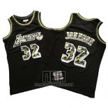 Camiseta Los Angeles Lakers Magic Johnson NO 32 Camuflaje Negro
