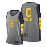 Camiseta Memphis Grizzlies De'anthony Melton NO 0 Ciudad Gris