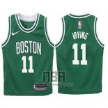Camiseta Nino Boston Celtics Kyrie Irving NO 11 2017-18 Verde